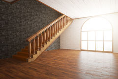 Luxurious interior with staircase Stock Image