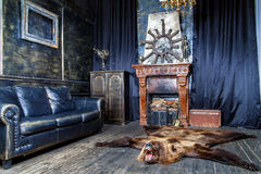 Luxurious interior in the vintage style Stock Image