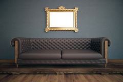 Luxurious interior with white frame Royalty Free Stock Photography