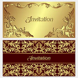 Luxurious invitation Cards. Royalty Free Stock Photo