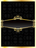Luxurious invitation golden card Royalty Free Stock Image