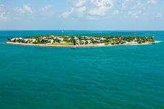 Luxurious island of Sunset Key Stock Images