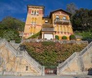 Luxurious italian private villa, Italy stock photo