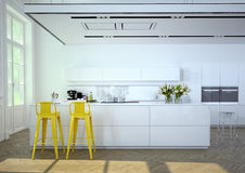 Luxurious kitchen. 3d rendering Royalty Free Stock Photos