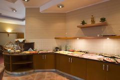 Luxurious kitchen interior Royalty Free Stock Images