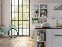 Luxurious kitchen with stainless steel appliances Stock Photos