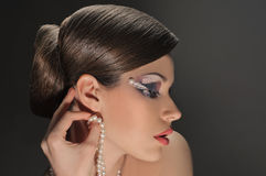Luxurious lady Stock Images