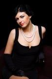Luxurious lady. Vintage style. royalty free stock photos