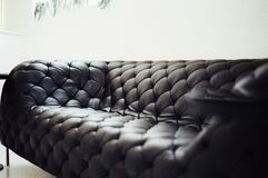 Luxurious leather couch Stock Photo