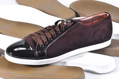 Luxurious leather shoes. Handmade Shoes Royalty Free Stock Image