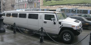 Luxurious limousine. Photo of luxurious limousine in St. Petrsburg, Russia Royalty Free Stock Image