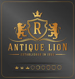 Luxurious Lions Royal Crest Vector Design Template. Suitable For Businesses Logo and Product Names, Luxury industry like Resort, Spa, Hotel, Jewelry, Wedding Royalty Free Stock Photos