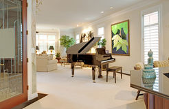 Luxurious living room. Living room in upscale home royalty free stock photo