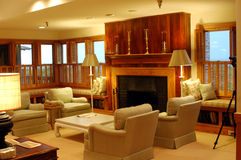 Luxurious living room. Details of luxurious living room in domestic house Royalty Free Stock Images