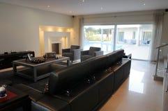 Classic Living Room - Modern Fireplace - Blue Pool. Living room in a modern style, with fireplace enlightened. Built by CasiDias, Algarve Manutenção e stock images