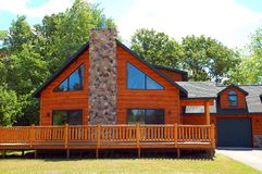 Luxurious log cabin Stock Photography