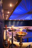 Luxurious Lounge Bar. The interior design of a luxurious bar in a modern lounge Stock Photo