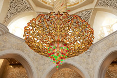 Luxurious lustre in the mosque Stock Images