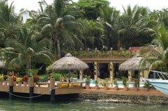 Luxurious mansion. In Miami Beach, Florida stock photos
