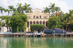 Luxurious mansion in Miami, Florida Royalty Free Stock Images
