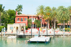 Luxurious mansion on Star Island in Miami Royalty Free Stock Photo