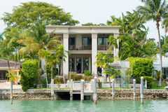 Luxurious mansion on Star Island in Miami Stock Image