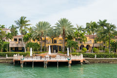 Luxurious mansion on Star Island in Miami Royalty Free Stock Images