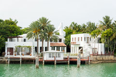 Luxurious mansion on Star Island in Miami Royalty Free Stock Photography