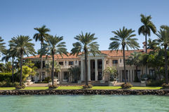Luxurious mansion on Star Island in Miami Royalty Free Stock Photos