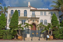 Luxurious Mansion. The Versace house on Ocean Drive on South Beach, Florida stock image