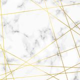 Luxurious marble stone realistic pattern with golden lines over Royalty Free Stock Photo