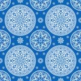 Luxurious mediterranian vintage seamless pattern Royalty Free Stock Photo
