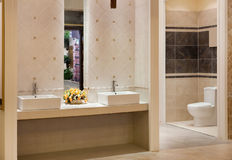 Luxurious modern  bathroom Stock Photos
