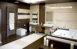 Luxurious modern bathroom stock photography