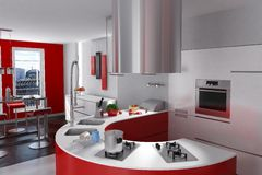Luxurious modern kitchen Royalty Free Stock Photo