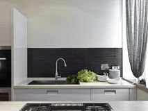 Luxurious modern kitchen Stock Photo