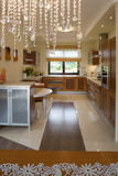 Luxurious modern kitchen stock photography