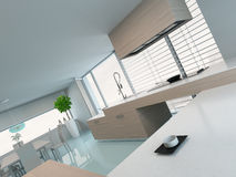 Luxurious modern kitchen interior Royalty Free Stock Photos