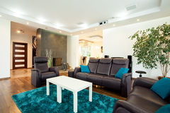 Luxurious modern living room stock image