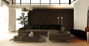 Luxurious modern living room Royalty Free Stock Image