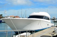 Luxurious modern yacht royalty free stock images