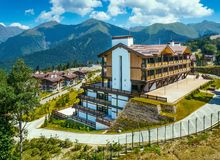 Luxurious mountain resort Royalty Free Stock Images