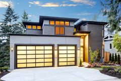 Luxurious new construction home in Bellevue, WA Stock Photography