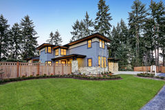 Luxurious new construction home in Bellevue, WA royalty free stock images