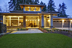 Free Luxurious New Construction Home Exterior Stock Photos - 85564693