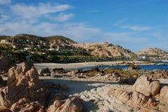 Luxurious Ocean Community Palmilla Sur. View of luxurious ocean community Palmilla Sur royalty free stock photos
