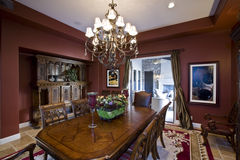 Luxurious Old Fashioned Dining Room Stock Photography