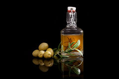 Luxurious olive oil background. Stock Photos
