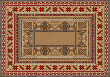 Luxurious oriental rug with original pattern Stock Image