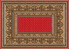 Luxurious oriental rug with original pattern Royalty Free Stock Photo